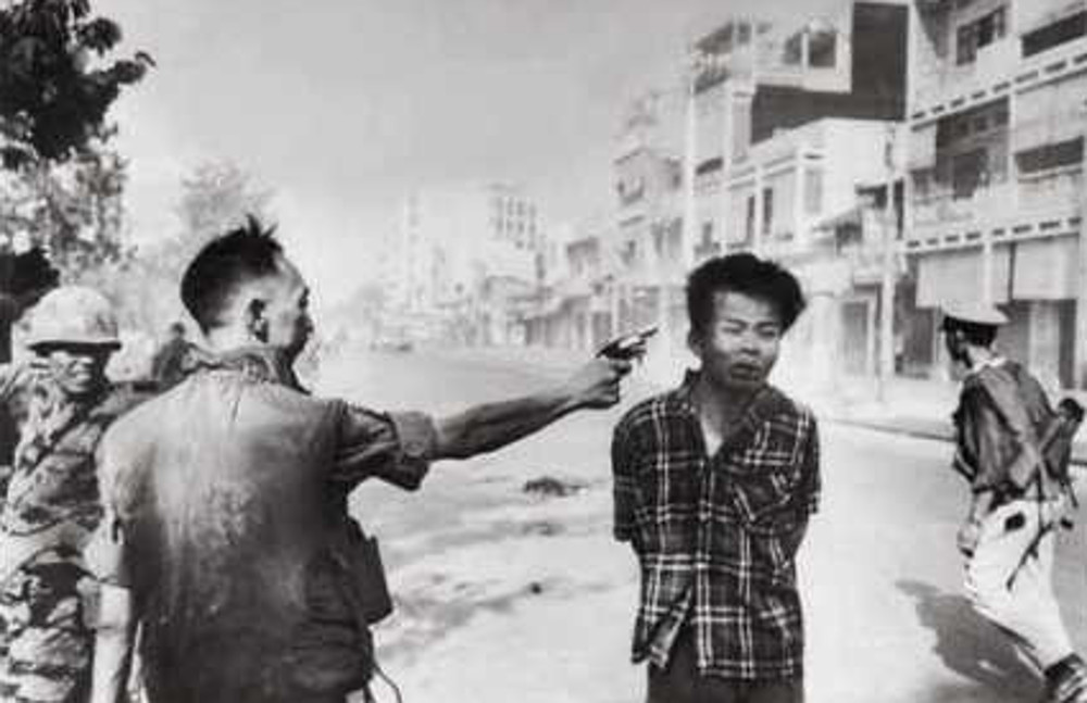 Street execution of a Vietcong prisoner Saigon artwork by Eddie Adams - art listed for sale on Artplode