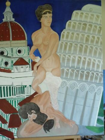 Florence and Pisa, art for sale online by Teresa Deborah Ryle