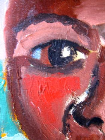 Cuban Woman In White artwork by Ginny Nagy - art listed for sale on Artplode