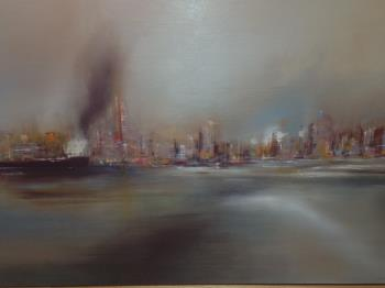 Shipping Metropolitan, art for sale online by Fred Colla