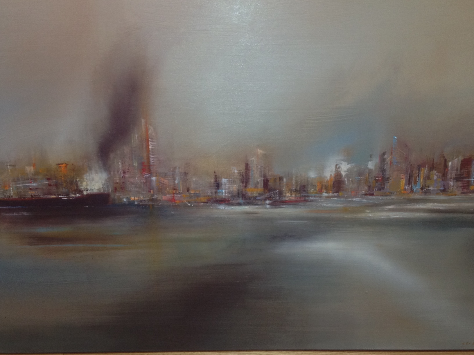 Shipping Metropolitan artwork by Fred Colla - art listed for sale on Artplode