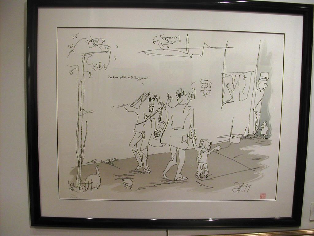 Jazz Man artwork by John Lennon - art listed for sale on Artplode
