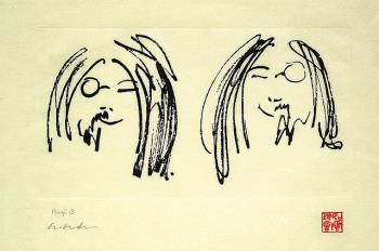 Jock and Yono, art for sale online by John Lennon