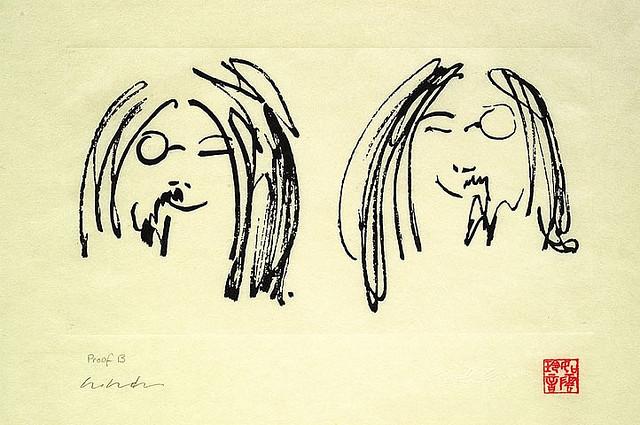 Jock and Yono artwork by John Lennon - art listed for sale on Artplode