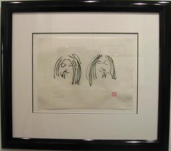 Jock and Yono artwork by John Lennon