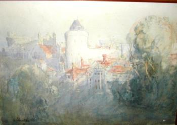 Windsor Castle, art for sale online by Arthur Streeton