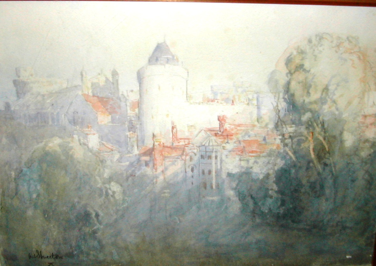 Windsor Castle artwork by Arthur Streeton - art listed for sale on Artplode