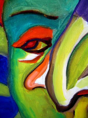 Man With Hat artwork by Ginny Nagy - art listed for sale on Artplode