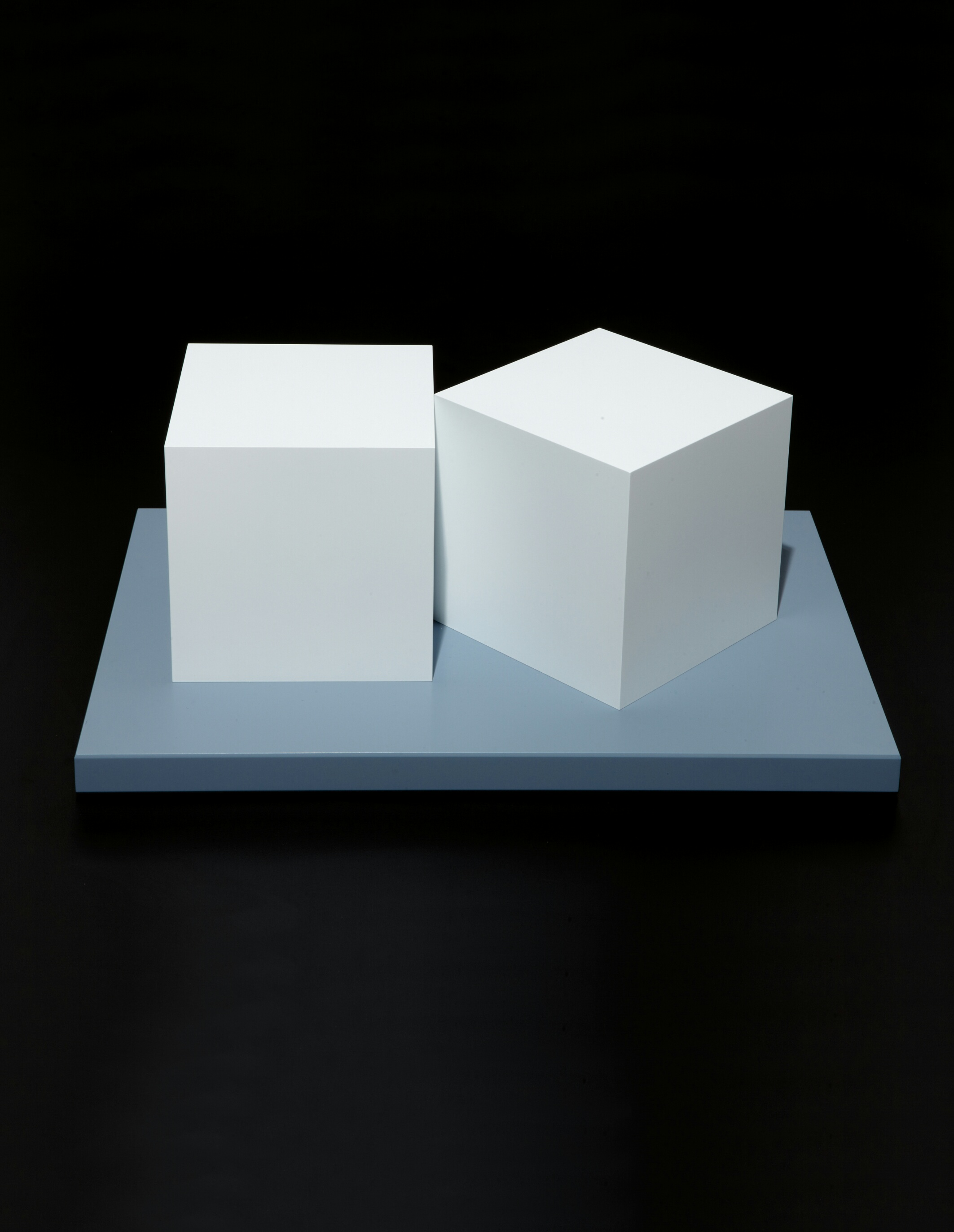 Two Cubes  artwork by Sol LeWitt - art listed for sale on Artplode