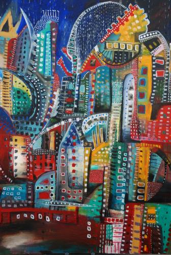 Underground Movement, art for sale online by Maria Curcic