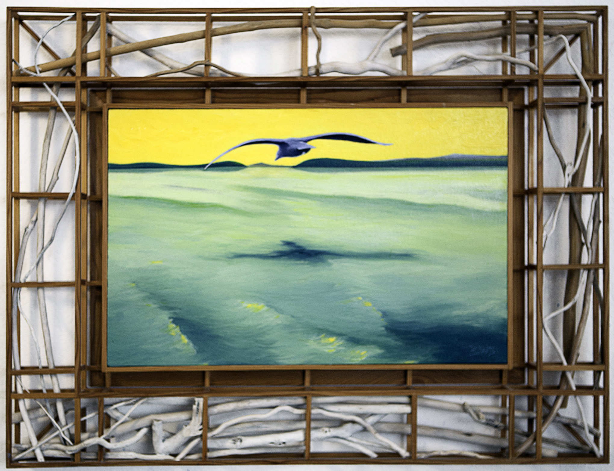 Gull off San Juan Island artwork by Barry Scharf - art listed for sale on Artplode