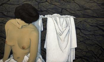In the Bath, art for sale online by Barry Scharf