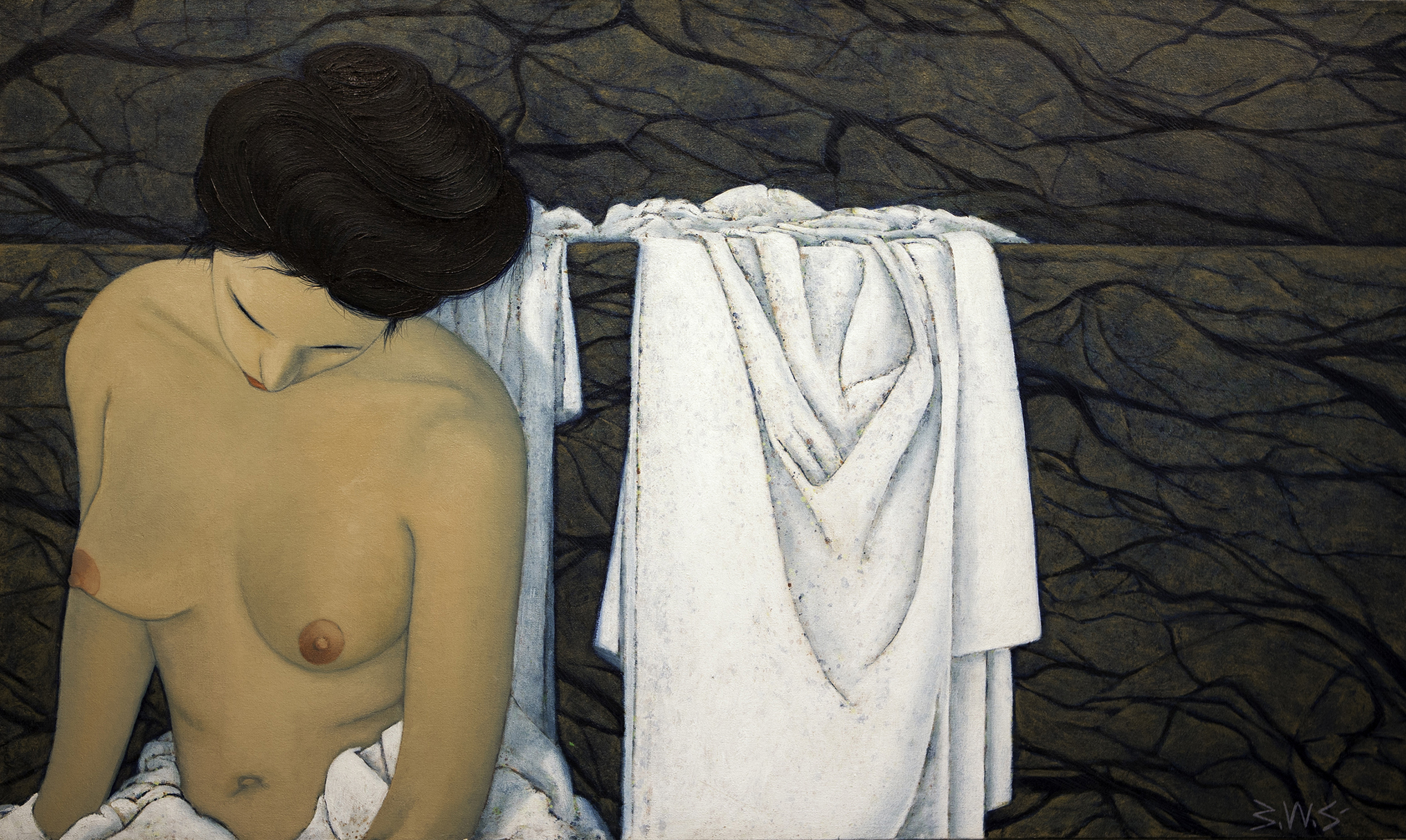 In the Bath artwork by Barry Scharf - art listed for sale on Artplode