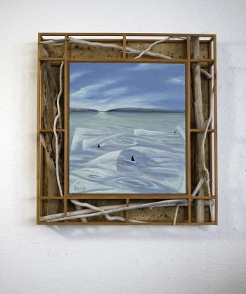 Dahl Porpoise off San Juan Island Wa artwork by Barry Scharf - art listed for sale on Artplode