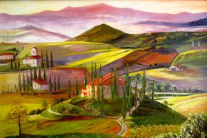 Colorful Bright Tuscany., art for sale online by Elena Roush