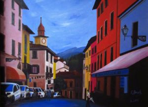 Old European Street., art for sale online by Elena Roush