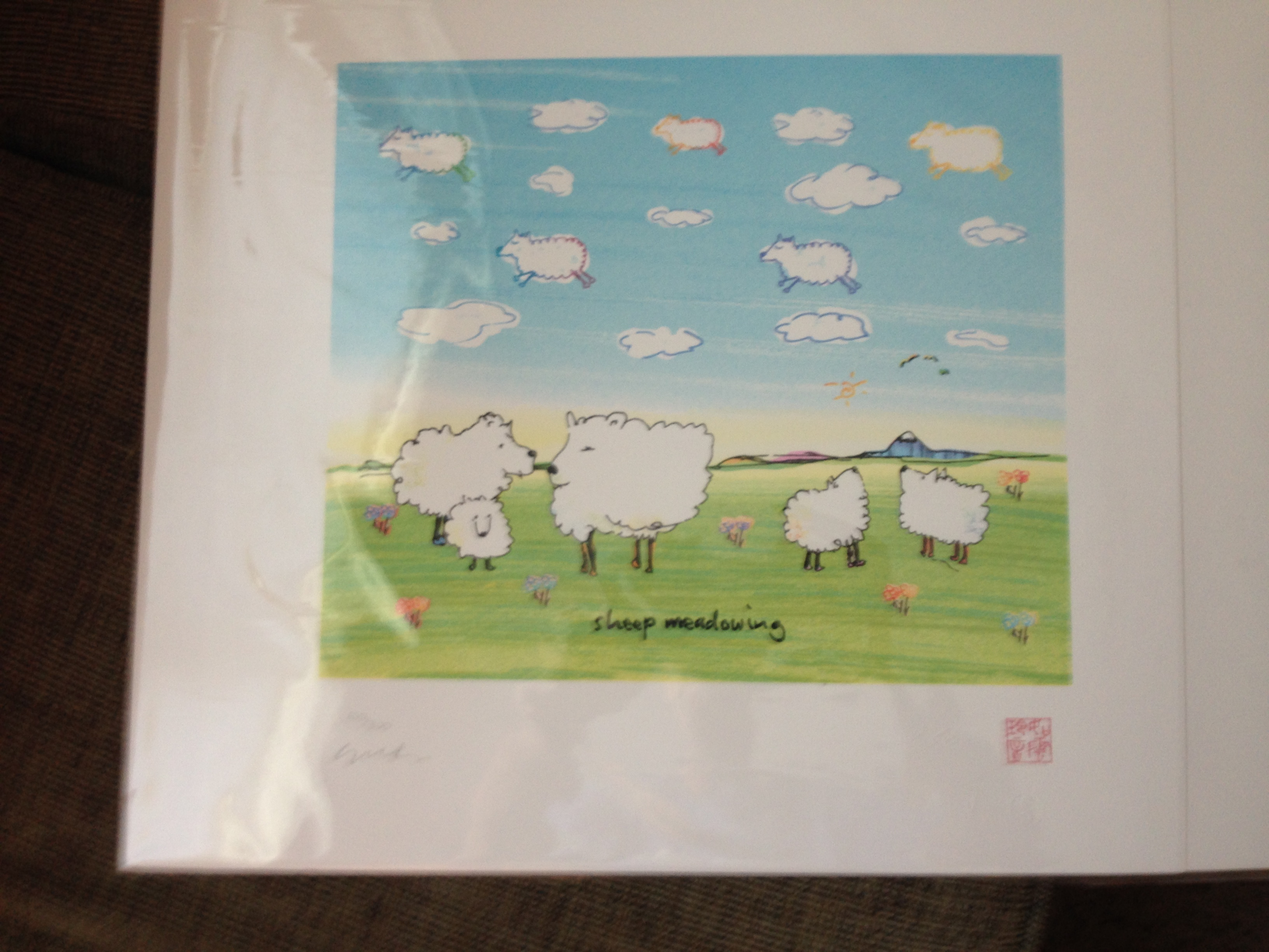 Sheep Meadowing artwork by John Lennon - art listed for sale on Artplode