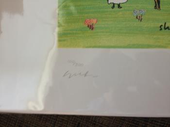 Sheep Meadowing artwork by John Lennon