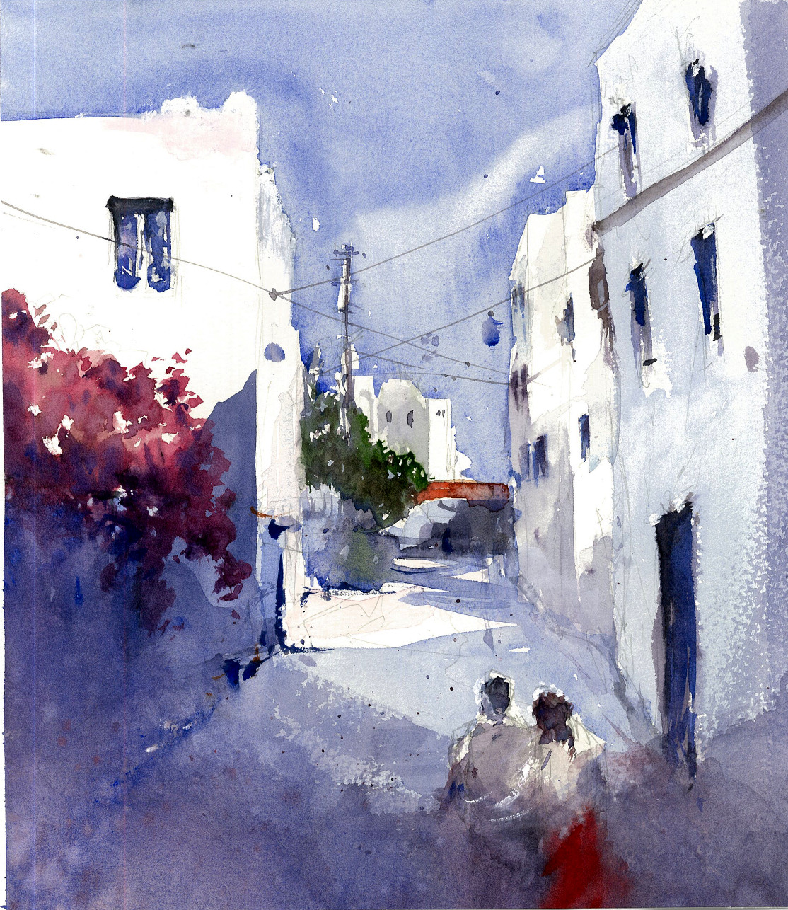 The Lovers of the Bodrum artwork by Baha Boru - art listed for sale on Artplode