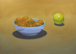 Oranges Are Not the Only Fruit, art for sale online by RJT Haynes