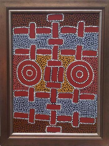 Ceremony Place, art for sale online by  Maureen Nampijinpa Hudson