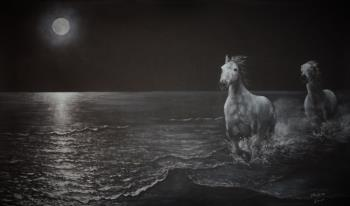Cinco Caballos artwork by David Swope - art listed for sale on Artplode