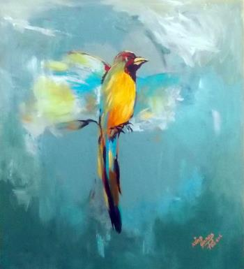 Bird of Hawassa , art for sale online by Yonas Degefa