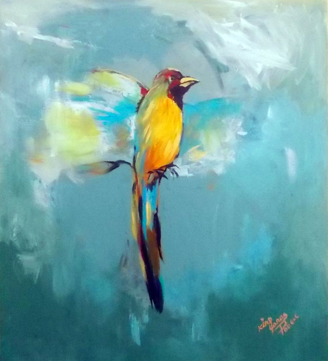 Bird of Hawassa  artwork by Yonas Degefa - art listed for sale on Artplode