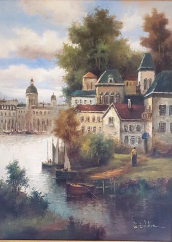 European Scene, art for sale online by W Eddie