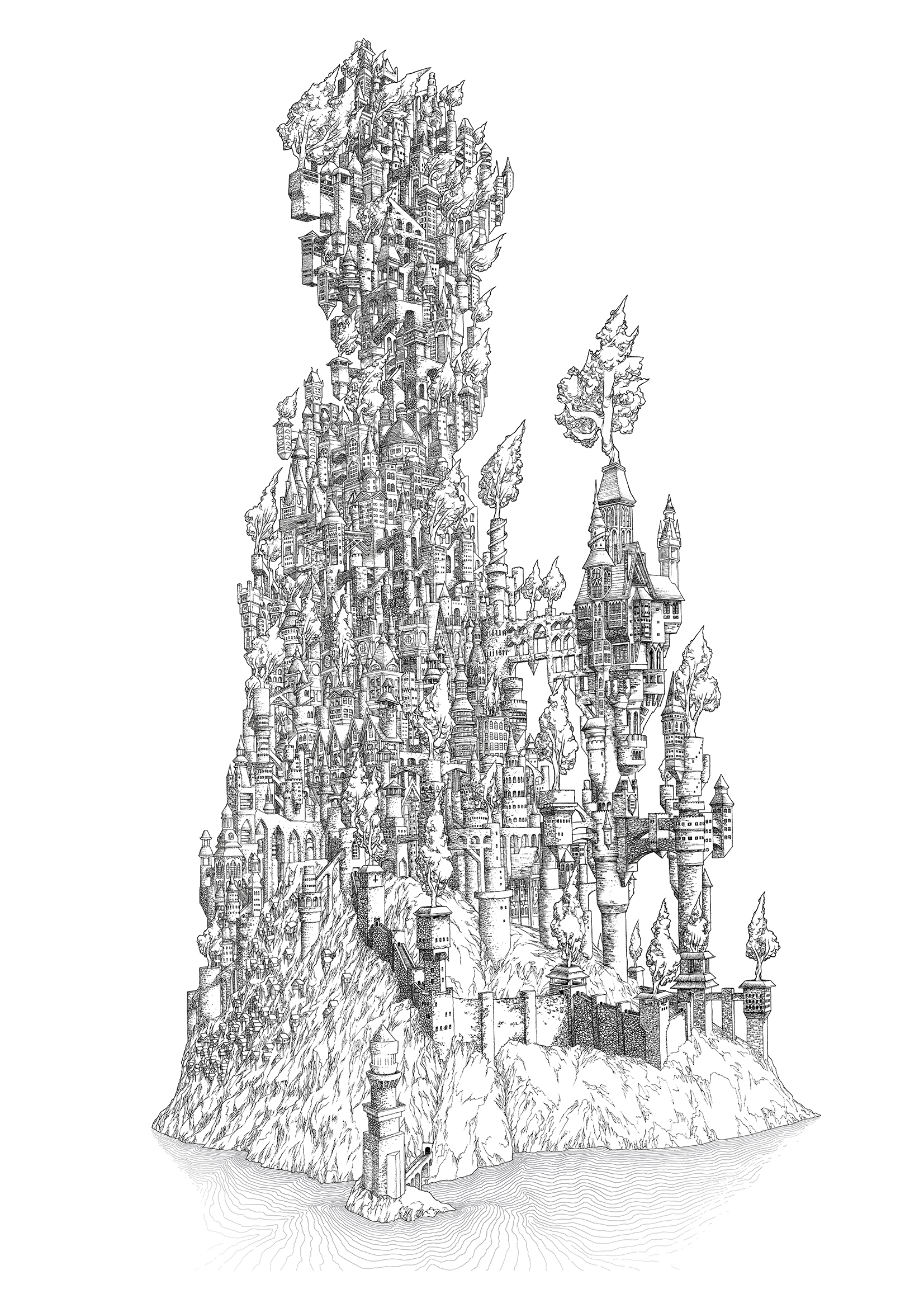 A Delicate Balance The Kingdom artwork by Aaron Wolf - art listed for sale on Artplode