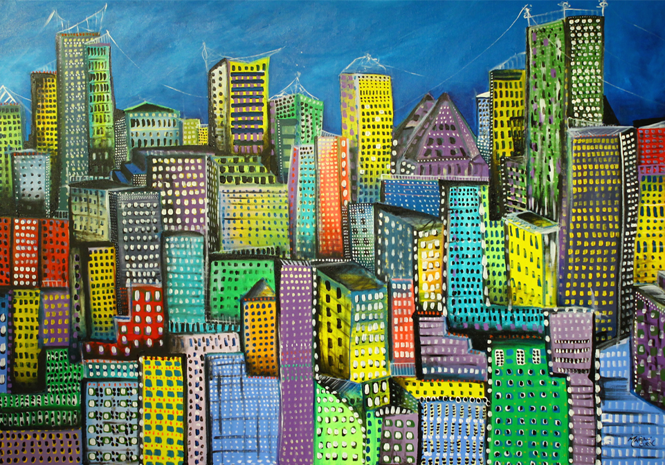 The City Unfolds artwork by Maria Curcic - art listed for sale on Artplode