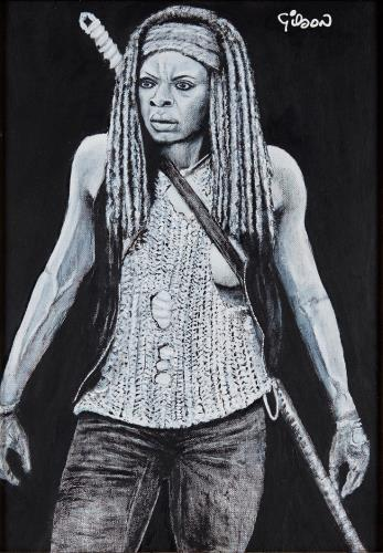 Michonne, art for sale online by Gilson Lavis