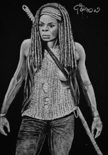 Michonne artwork by Gilson Lavis