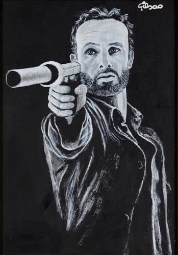 Rick, art for sale online by Gilson Lavis