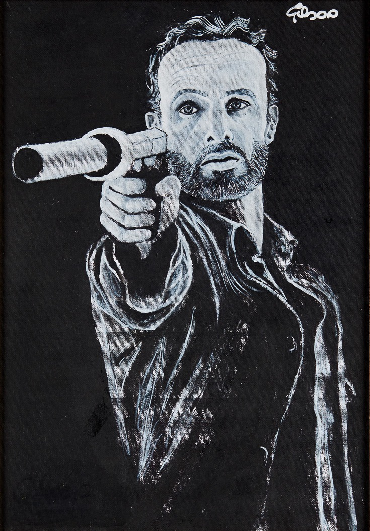 Rick artwork by Gilson Lavis - art listed for sale on Artplode