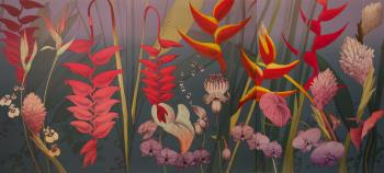 Hawaiian Triptych Night, art for sale online by Kenneth Bushnell