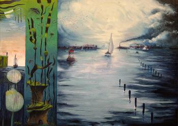 On the Sound, art for sale online by Barry Scharf