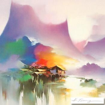 Shangriala, art for sale online by H Leung
