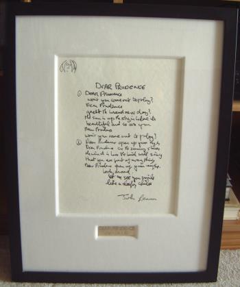 Dear Prudence artwork by John Lennon - art listed for sale on Artplode