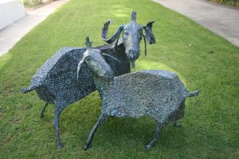 Goats artwork by Daniil Guberav - art listed for sale on Artplode