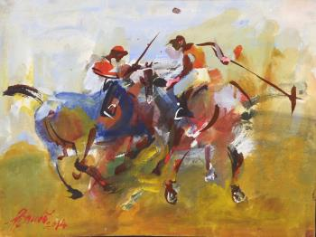 Polo players, art for sale online by Ivankovitch Baudo