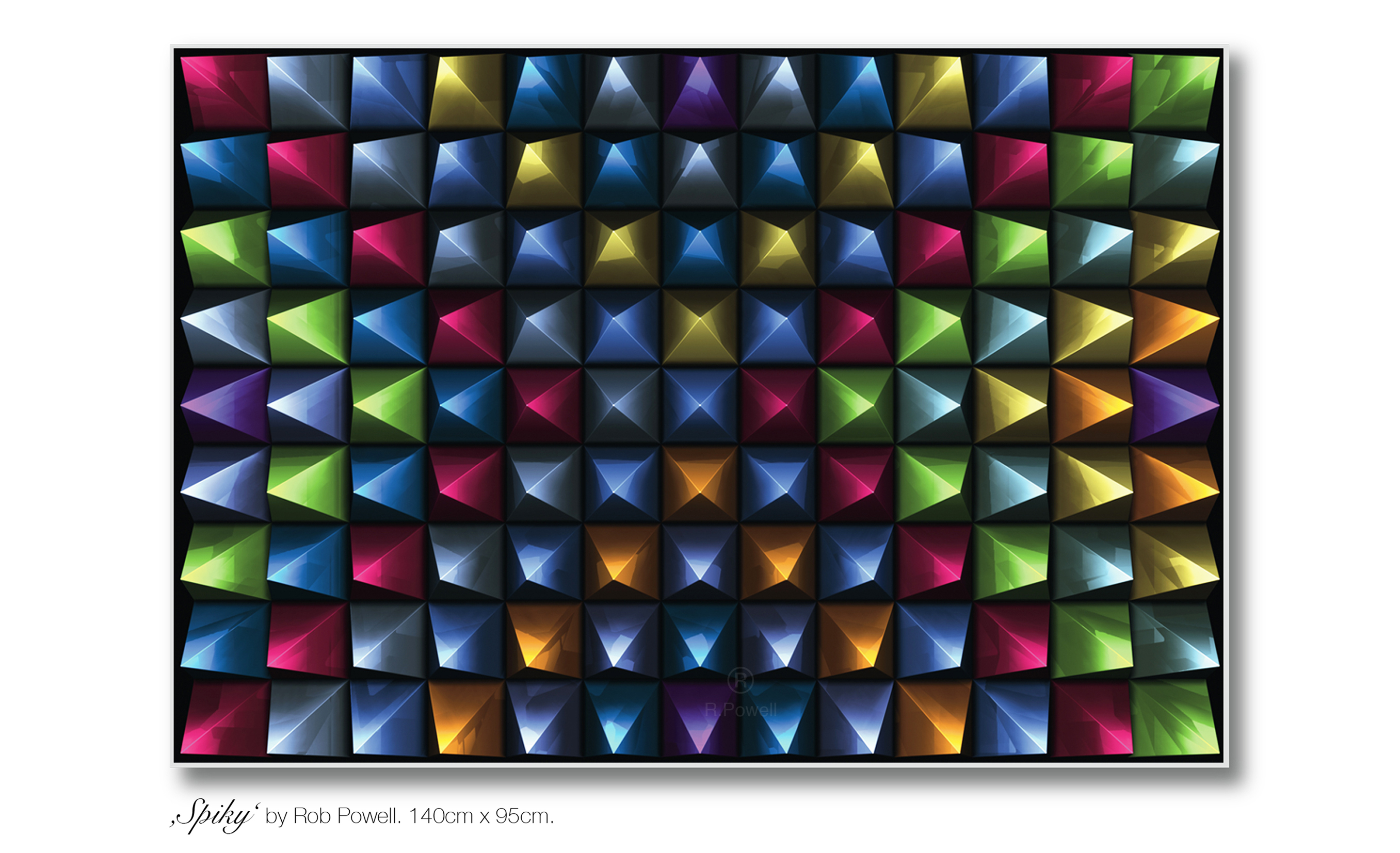 Spiky artwork by Rob Powell - art listed for sale on Artplode