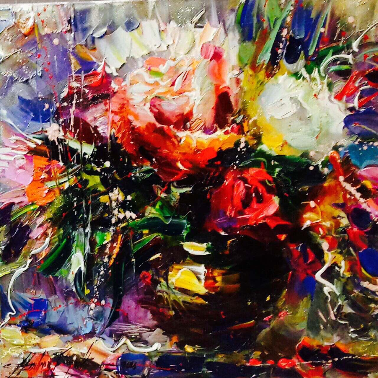 Floral extravaganza artwork by Andrey Figol - art listed for sale on Artplode