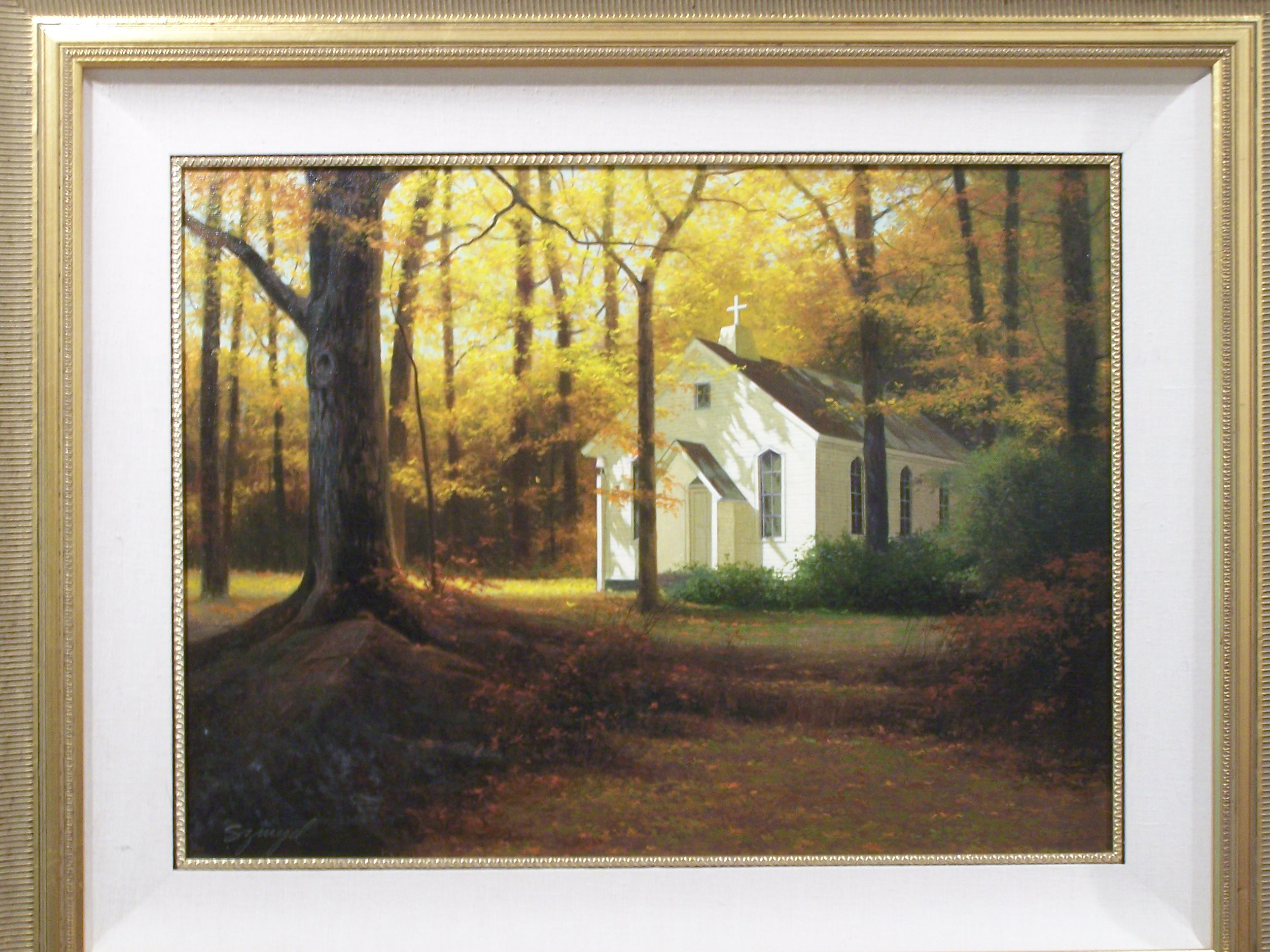 Little Church in the Woods artwork by Edward Szmed - art listed for sale on Artplode