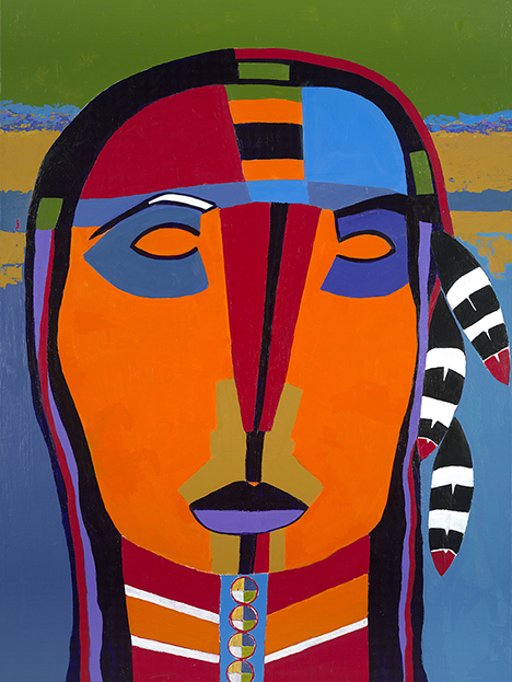Great Peacemaker Iroquois artwork by Mary Lonergan - art listed for sale on Artplode