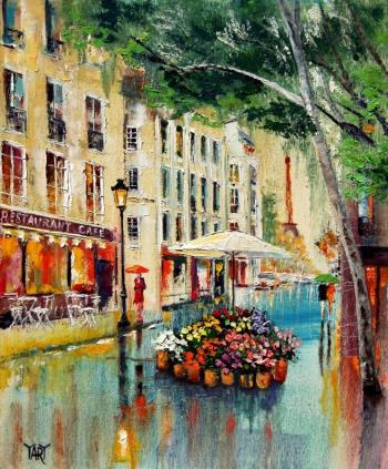 Parapluies en juin, art for sale online by Yary Dluhos