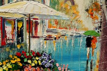 Parapluies en juin artwork by Yary Dluhos - art listed for sale on Artplode