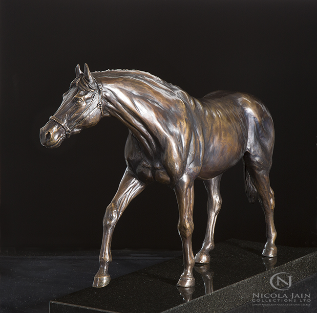 Chapion Stallion Zabeel  artwork by Nicola Lewis - art listed for sale on Artplode