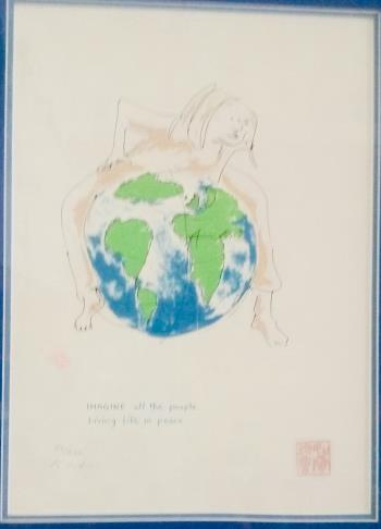 Imagine All The People, art for sale online by John Lennon