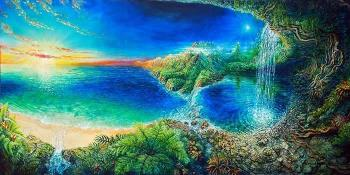 Maui Visions, art for sale online by Mick Brandenberger The Artist of Curved Space